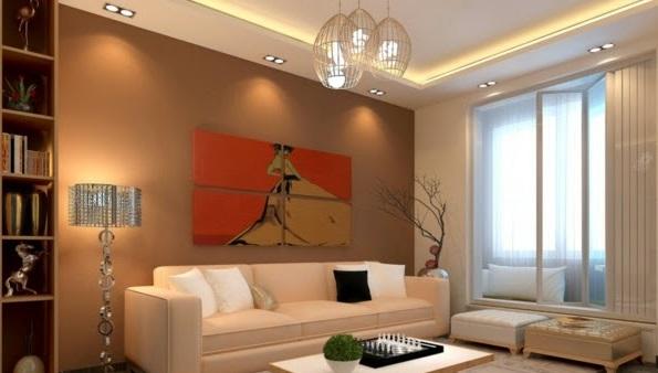 фото освещение потолками с комнат натяжными