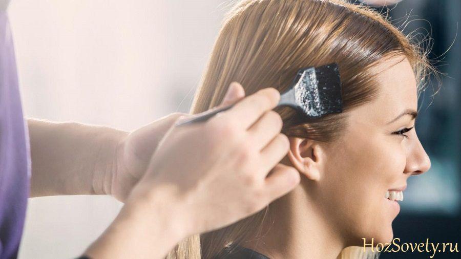 как удалить пятно от краски для волос