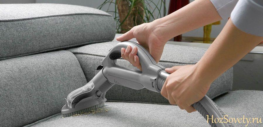 как почистить диван пароочистителем