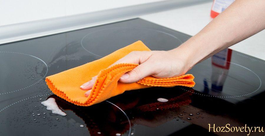 как чистить индукционную плиту1