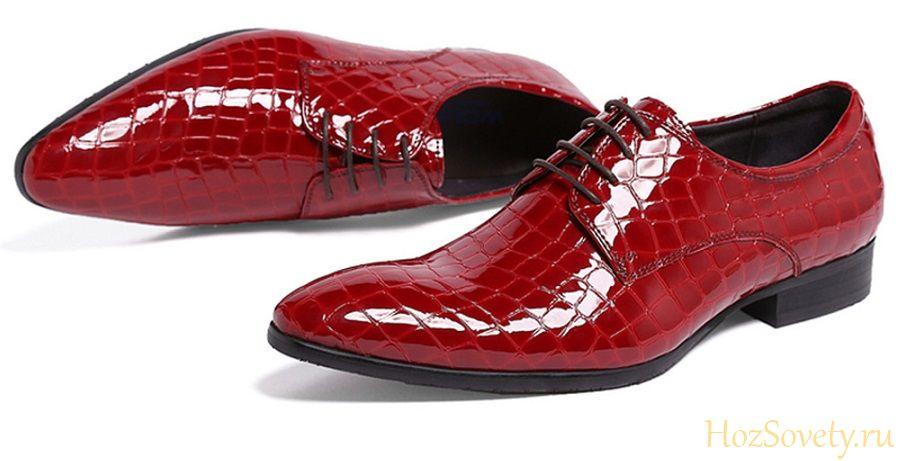 как ухаживать за лаковой обувью2