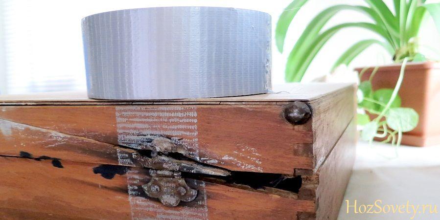 как удалить следы от скотча на мебели