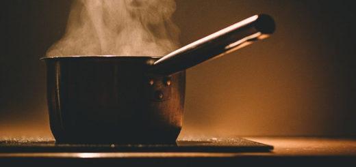 горящая кастрюля