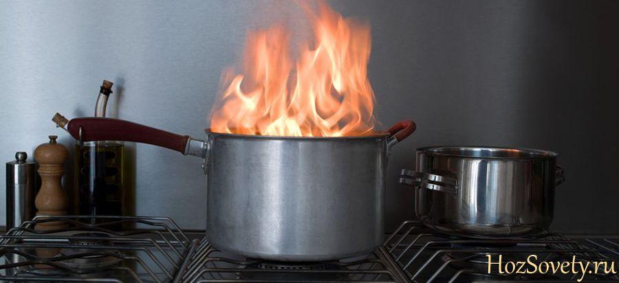 как устранить запах от сгоревшей кастрюли