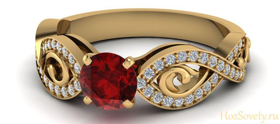как чистить кольцо с позолотой