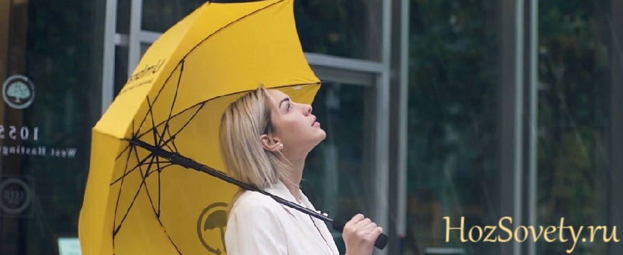зонт и девушка