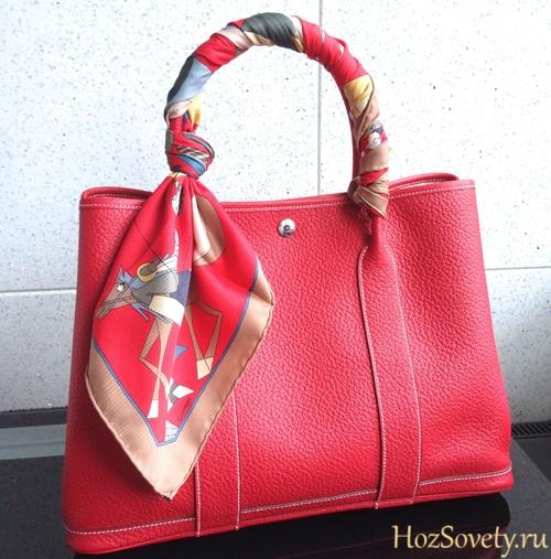 шейный платок на ручке сумки